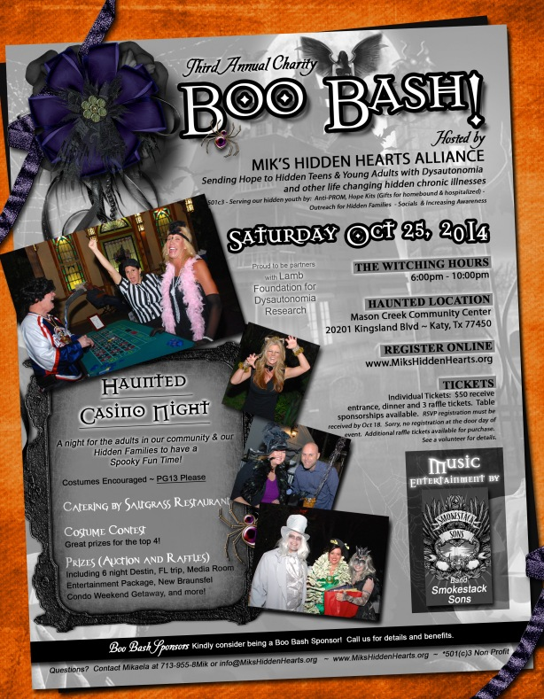 Join us for the 3rd Annual Mik's Hidden Alliance Boo Bash!