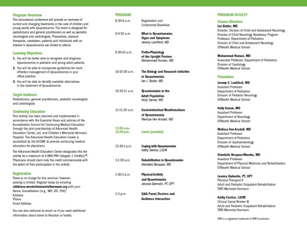 Dysautonomia Conference pg 1